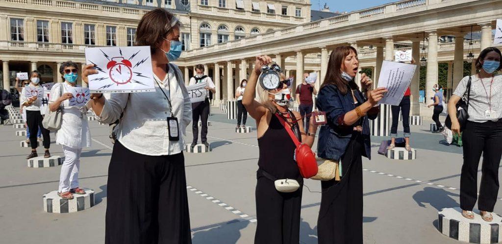 Flash mob des guides-conférenciers